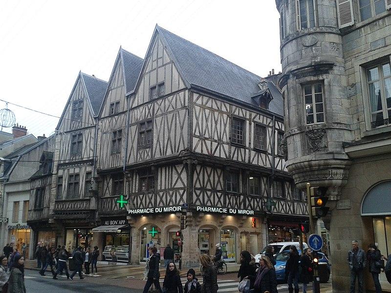 Photo du Monument Historique Maison dite aux Trois Visages situé à Dijon