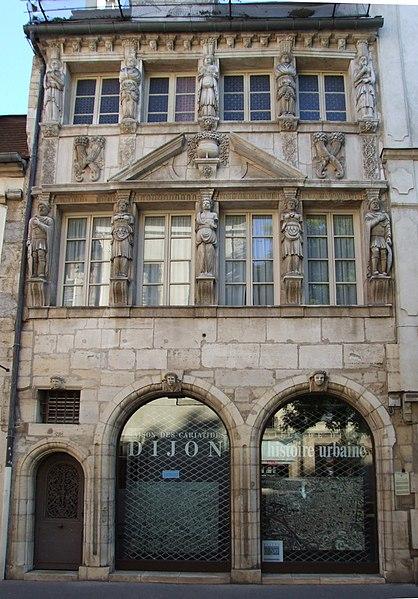 Photo du Monument Historique Maison dite des Cariatides ou Maison Pouffier situé à Dijon