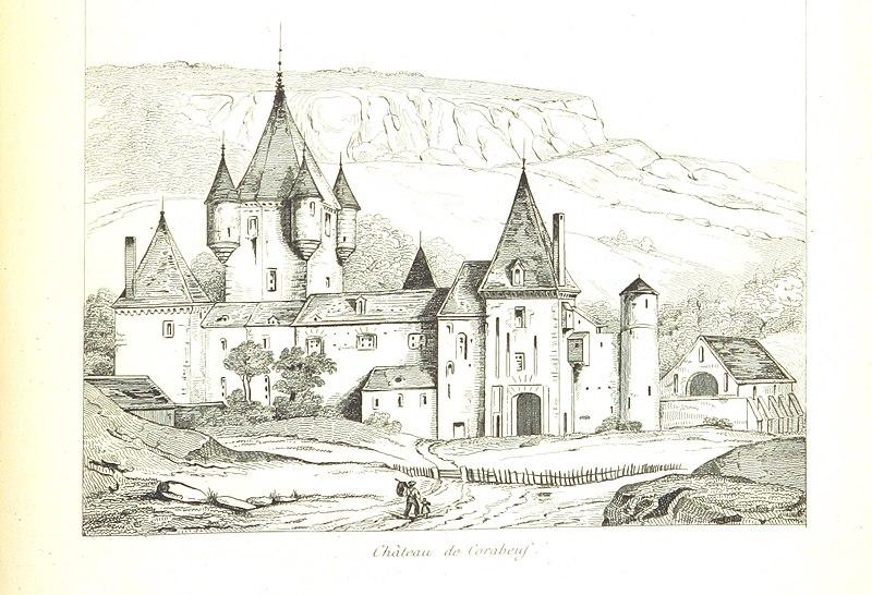 Photo du Monument Historique Château de Coraboeuf situé à Ivry-en-Montagne