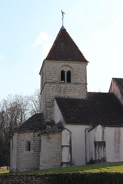 Photo du Monument Historique Eglise situé à Reulle-Vergy