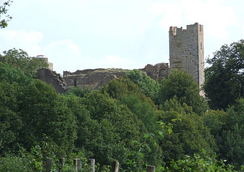Photo du Monument Historique Château de Thil (ruines) situé à Vic-sous-Thil