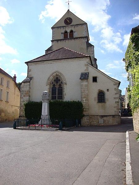 Photo du Monument Historique Eglise situé à Volnay