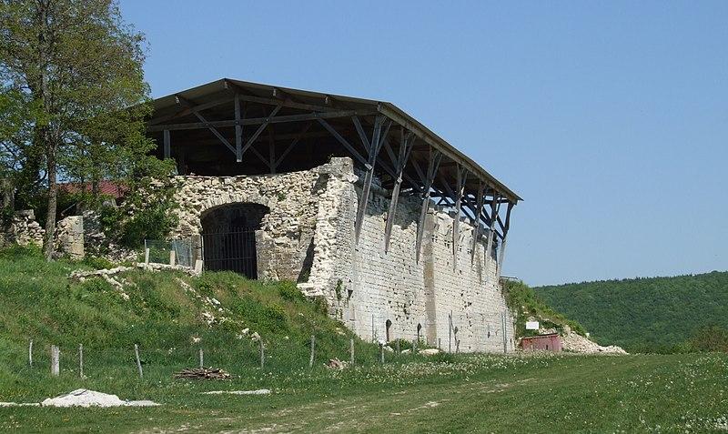 Photo du Monument Historique Abbaye Saint-Vivant (ruines) ou vestiges de l'abbaye Saint-Vivant situé à Curtil-Vergy
