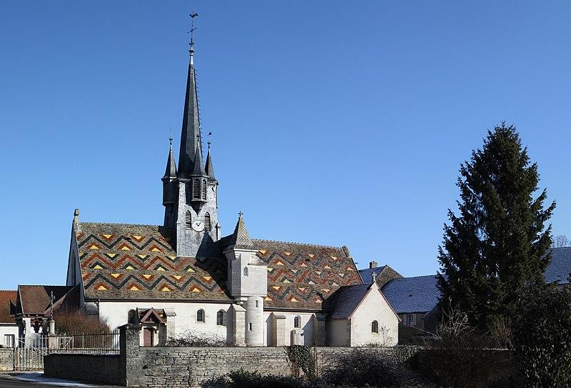 Photo du Monument Historique Eglise Saint-Léger situé à Ruffey-lès-Beaune
