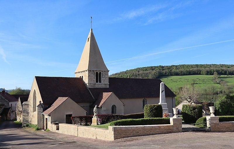 Photo du Monument Historique Eglise Saint-Léger situé à Thenissey