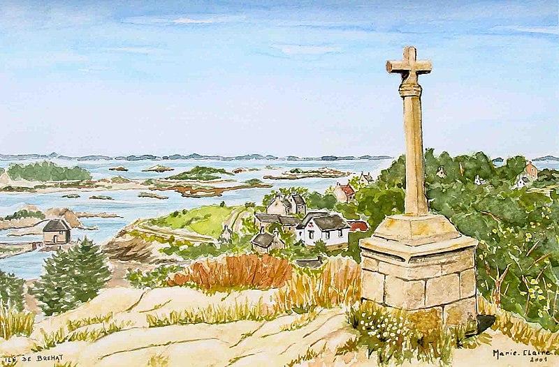 Photo du Monument Historique Croix Saint-Michel situé à Ile-de-Bréhat