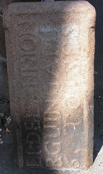 Photo du Monument Historique Borne de corvée situé à Lannion