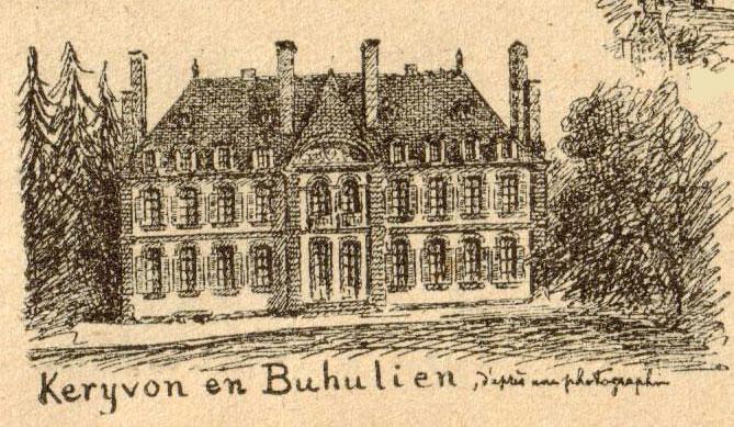 Photo du Monument Historique Château de Kerivon situé à Lannion
