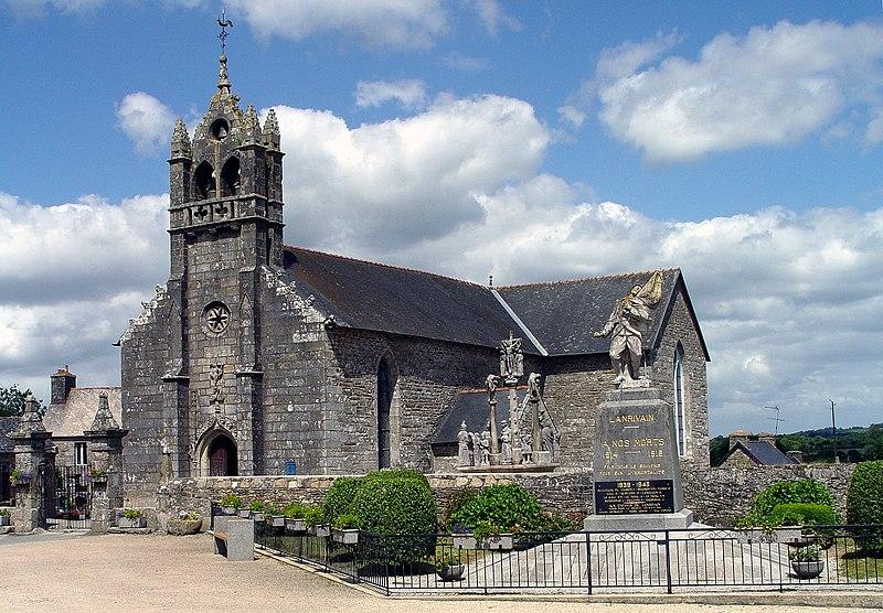 Photo du Monument Historique Eglise Saint-Grégoire situé à Lanrivain