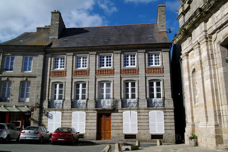 Photo du Monument Historique Hôtel de Clézieux situé à Moncontour
