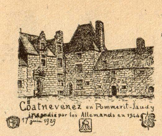 Photo du Monument Historique Manoir de Coat-Nevenez situé à Pommerit-Jaudy