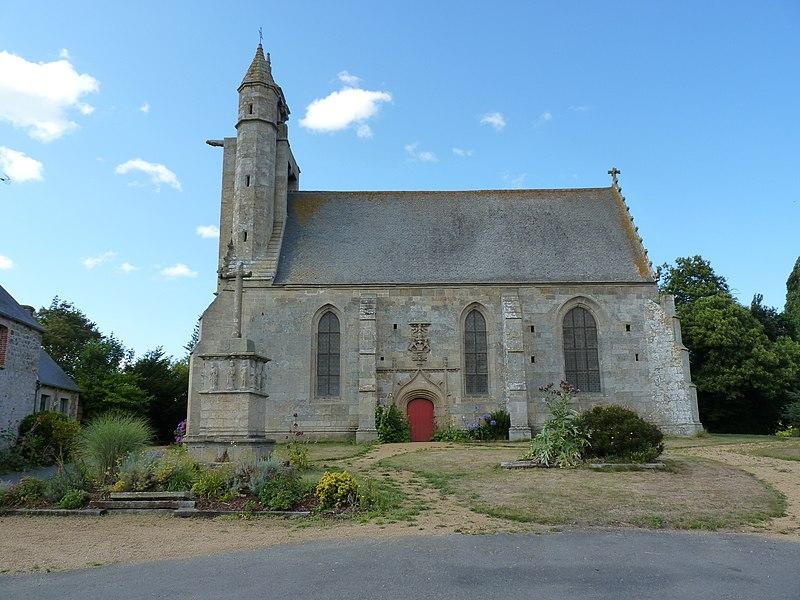Photo du Monument Historique Chapelle du Paradis et calvaire situé à Pommerit-le-Vicomte