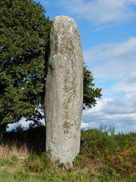 Photo du Monument Historique Menhir de Kergornec situé à Saint-Gilles-Pligeaux