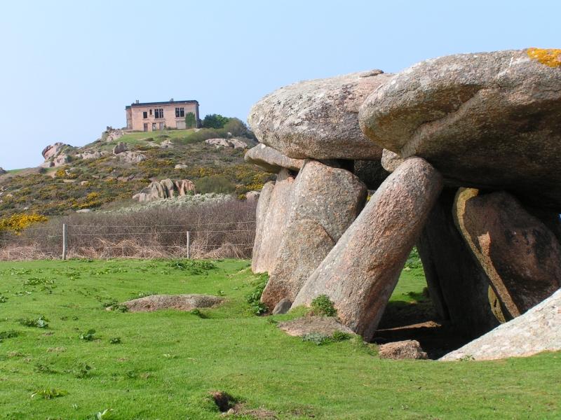 Photo du Monument Historique Allée couverte, située dans l'Ile Milliau situé à Trébeurden