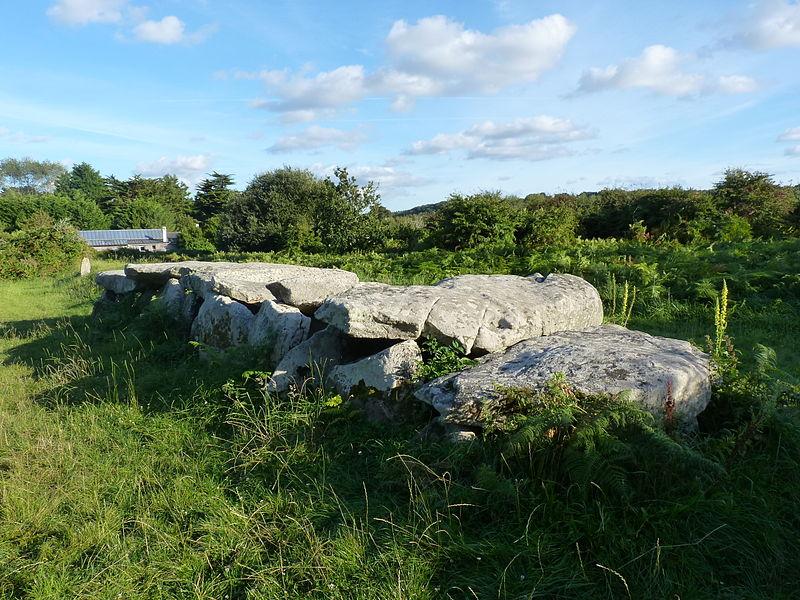 Photo du Monument Historique Allée couverte et menhir de Prajou-Menhir situé à Trébeurden