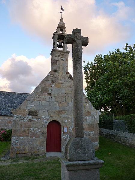 Photo du Monument Historique Chapelle Notre-Dame de Bonne-Nouvelle, ou de Kerkonan, et croix situé à Trébeurden