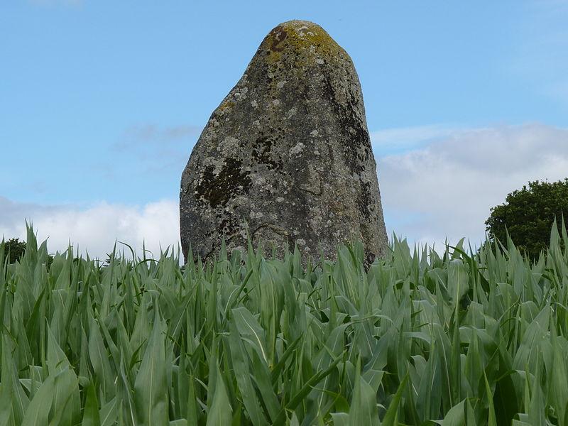 Photo du Monument Historique Menhir dit Pont-aux-Prêtres ou de la Ville-Juhel situé à Le Vieux-Bourg
