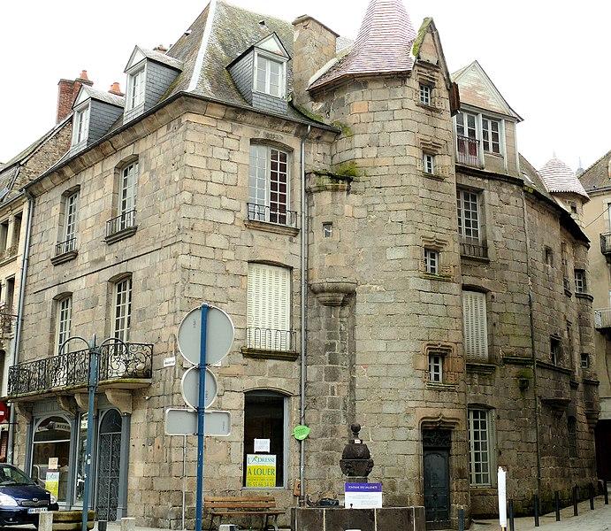 Photo du Monument Historique Maison dite des Vallenet situé à Aubusson