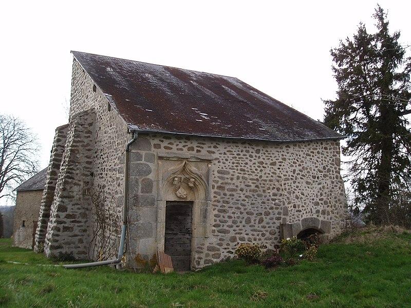 Photo du Monument Historique Chapelle gothique du 15e siècle situé à Azerables