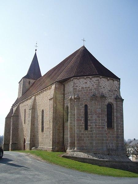 Photo du Monument Historique Eglise Saint-Georges situé à Azerables