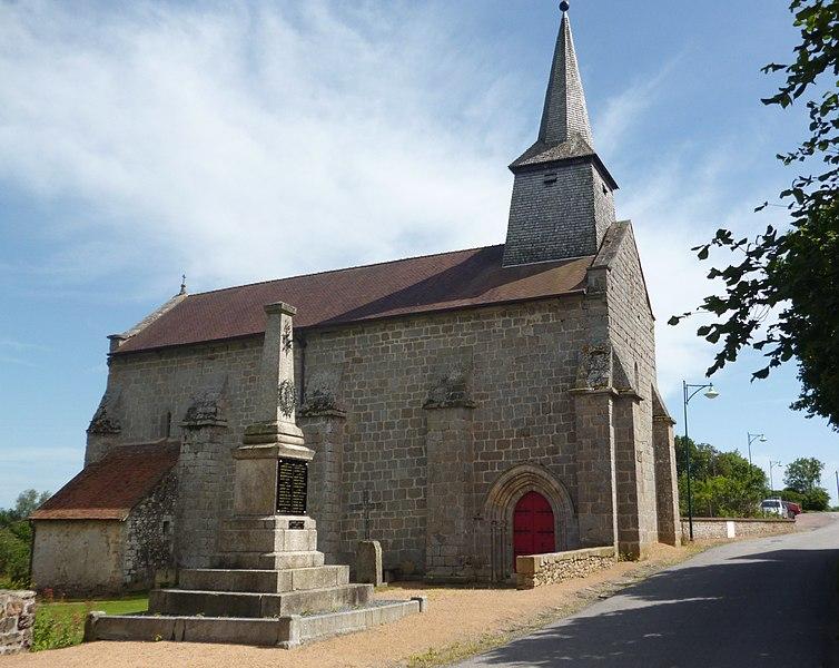 Photo du Monument Historique Eglise Saint-Jean-Baptiste situé à Blaudeix