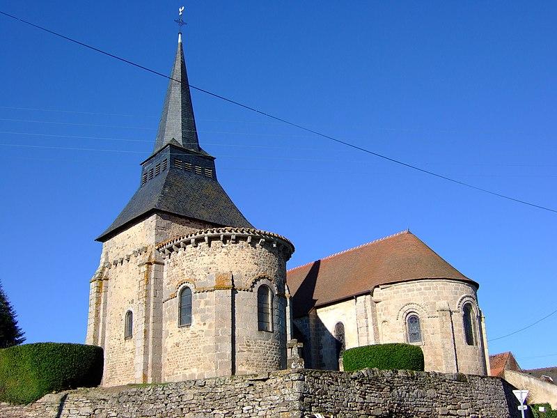 Photo du Monument Historique Eglise Saint-Martin et chapelle Notre-Dame, dites églises jumelles situé à Boussac-Bourg