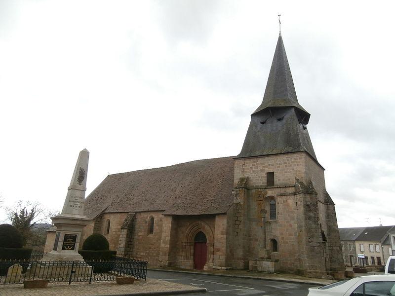 Photo du Monument Historique Eglise Saint-Symphorien situé à Bussière-Dunoise