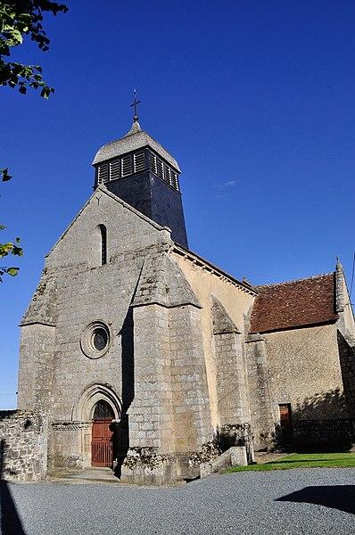 Photo du Monument Historique Eglise Saint-Pierre-ès-Liens situé à Châtelus-Malvaleix