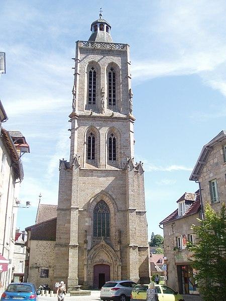 Photo du Monument Historique Eglise Sainte-Valérie, dite église du Moutier situé à Felletin