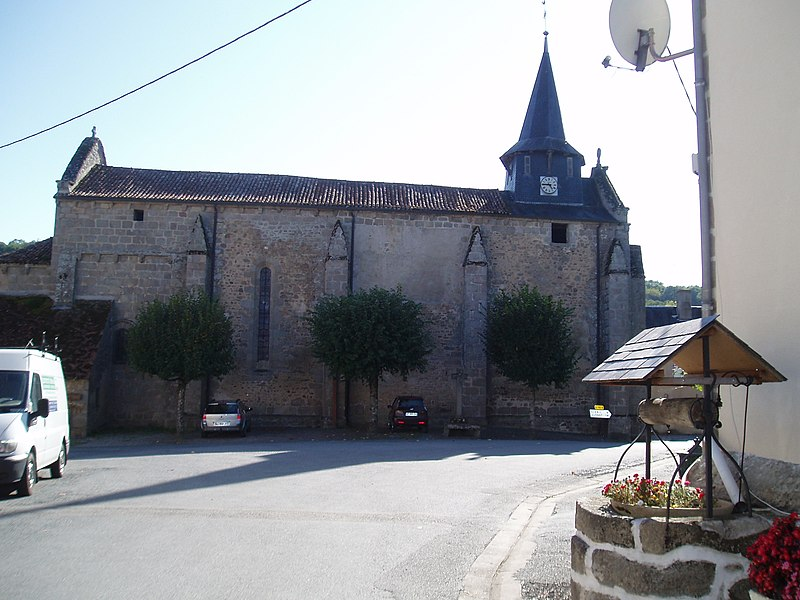 Photo du Monument Historique Eglise Saint-Martial situé à Jouillat