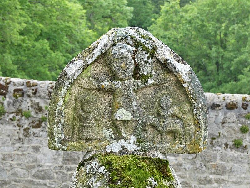 Photo du Monument Historique Croix de Saint-Barber situé à Moutier-Rozeille