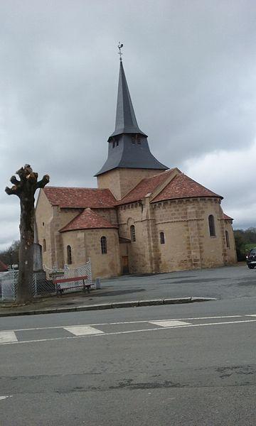 Photo du Monument Historique Eglise Saint-Clair situé à Nouzerines