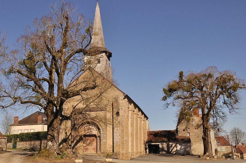 Photo du Monument Historique Eglise de la Nativité de la Vierge situé à Nouziers