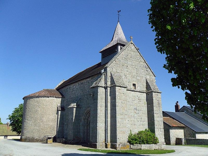 Photo du Monument Historique Eglise Saint-Médard situé à Saint-Médard-la-Rochette