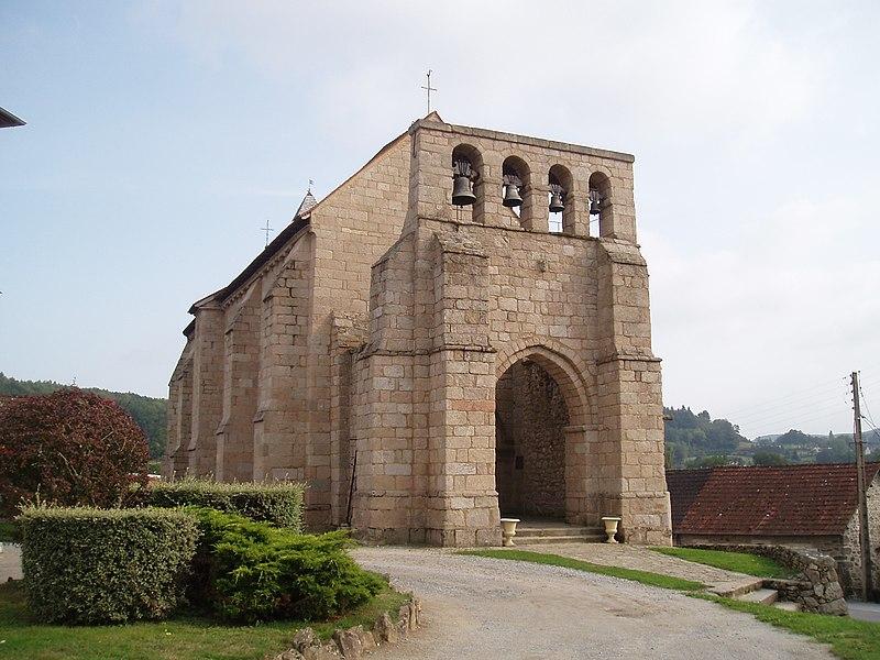 Photo du Monument Historique Eglise Saint-Quentin situé à Saint-Quentin-la-Chabanne