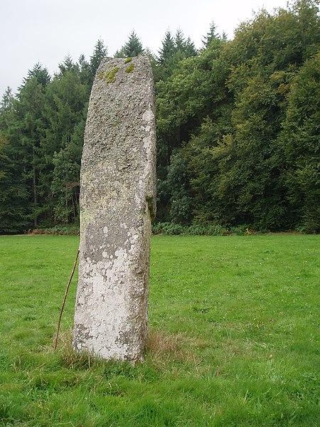 Photo du Monument Historique Menhir dit Pierre Fitte situé à Saint-Quentin-la-Chabanne