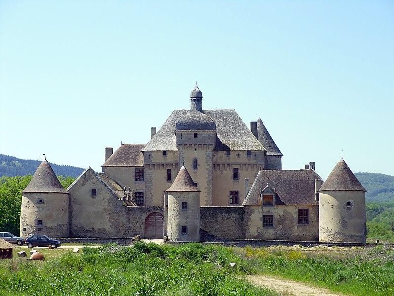 Photo du Monument Historique Château du Théret situé à La Saunière