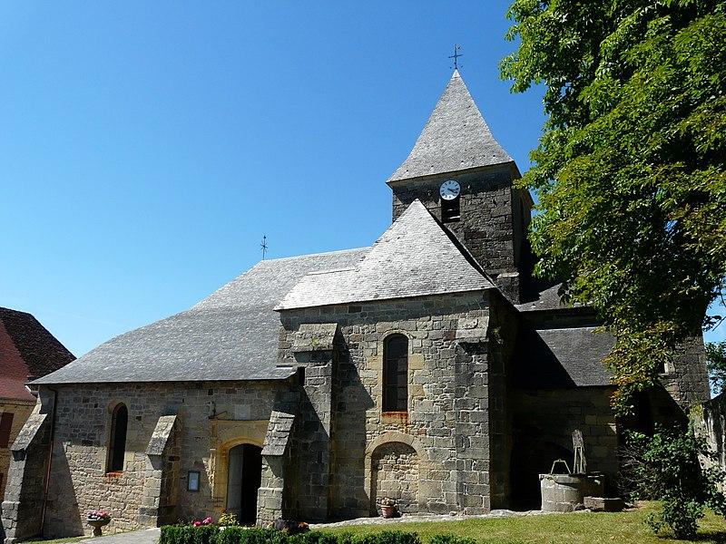 Photo du Monument Historique Eglise Saint-Vincent et Saint-Cloud situé à Badefols-d'Ans