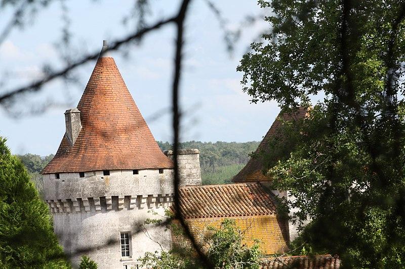 Photo du Monument Historique Château de Poutignac situé à Beaussac