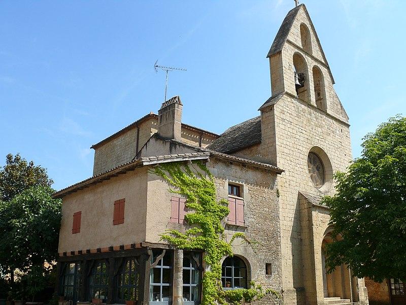 Photo du Monument Historique Eglise Notre-Dame-de-Bourg situé à Biron