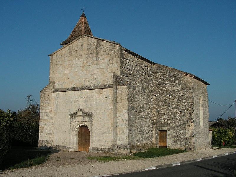 Photo du Monument Historique Eglise Saint-Jean de Bonneville situé à Bonneville-et-Saint-Avit-de-Fumadières