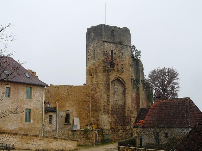 Photo du Monument Historique Restes du château situé à Carlux