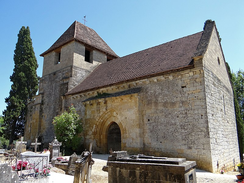 Photo du Monument Historique Ancienne église Saint-Clair du Vieux-Castel situé à Castels