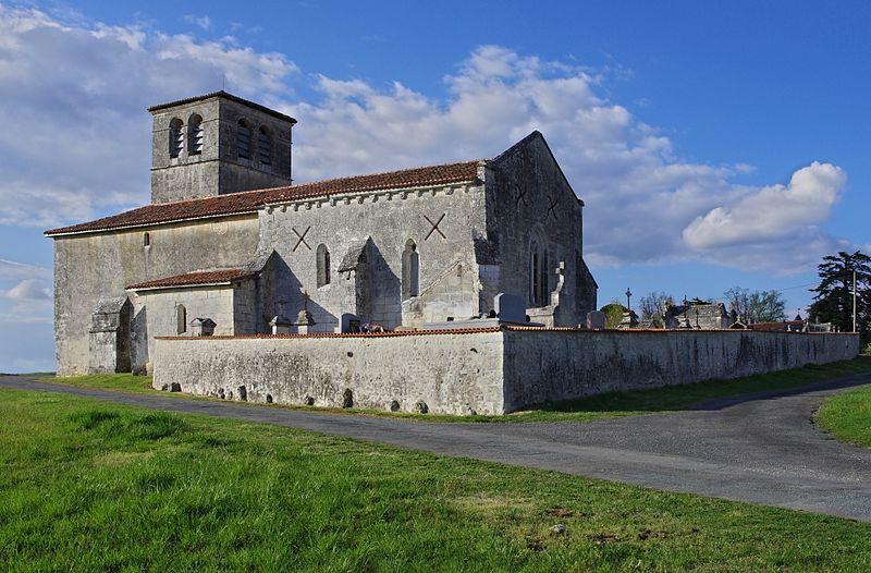 Photo du Monument Historique Eglise Saint-Jean Baptiste de Fontaine situé à Champagne-et-Fontaine