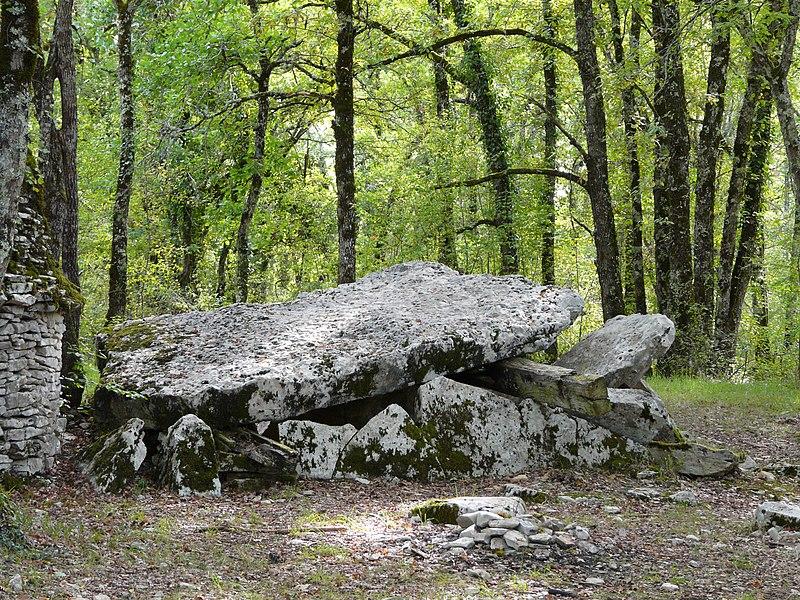 Photo du Monument Historique Dolmen situé à Limeyrat