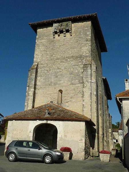 Photo du Monument Historique Eglise Saint-Eutrope situé à Lusignac