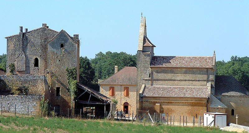 Photo du Monument Historique Prieuré de Sainte-Croix-de-Beaumont situé à Sainte-Croix