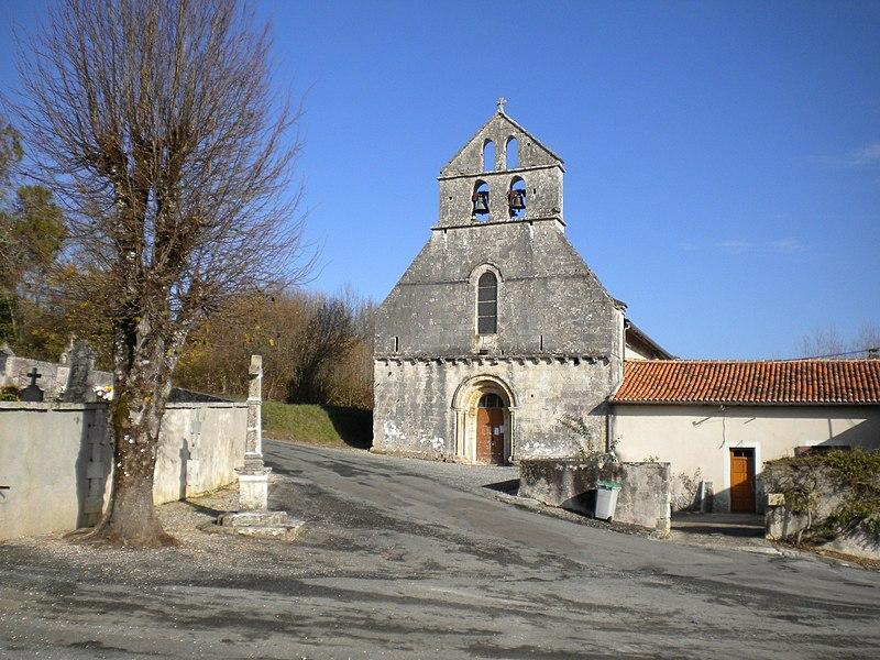 Photo du Monument Historique Eglise Saint-Martial situé à Saint-Martial-de-Valette