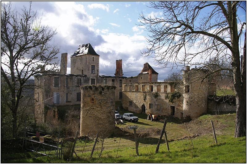 Photo du Monument Historique Château du Repaire situé à Saint-Aubin-de-Nabirat