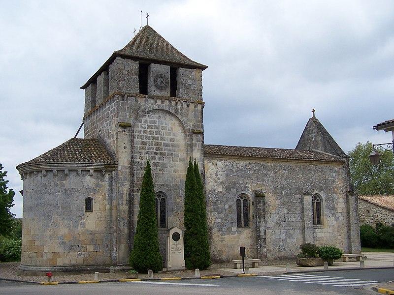 Photo du Monument Historique Eglise Saint-Michel situé à Saint-Michel-de-Montaigne